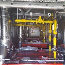 Rivissä 3 x 1,3 MW kaasukodesanssikattilapaketit rivissä