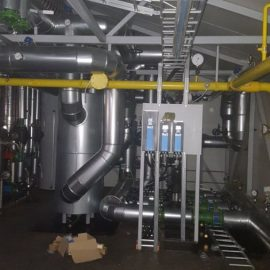 Tasaussäiliö ja kaasuputkisto