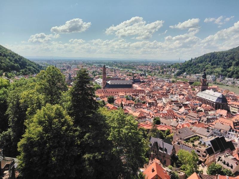 Näkymät Heidelbergin linnalta.